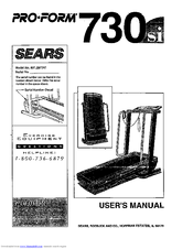 Proform SEARS 730si Manuals