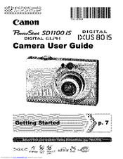 Canon Powershot SD1100 IS Manuals