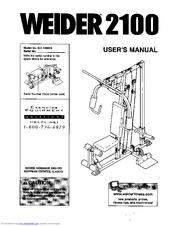 Weider 2100 Manuals