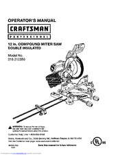 Craftsman 315.212350 Manuals