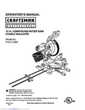 Craftsman 315.212350 Manuals