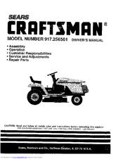 Craftsman 917.256501 Manuals
