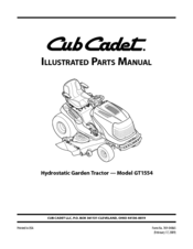 Cub Cadet GT1554VT Illustrated Parts List (40 pages)