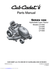 Cub Cadet LT1050 Manuals
