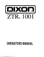 Dixon ZTR 1001 Manuals