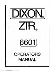 Dixon ZTR 6601 Manuals