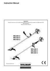 Dolmar MS-260 U, MS-330 U, MS-430 U, MS-230 C, MS-260 C