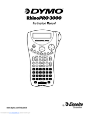 Dymo Rhino Pro 3000 Manuals