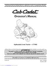 Cub Cadet LT1045 Manuals