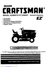 Craftsman 917.258591 Manuals