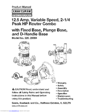 CRAFTSMAN 320.28084 Product Manual (68 pages)