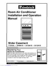 Friedrich SV08A10 Manuals