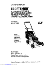 Craftsman EZ3 917.377580 Manuals
