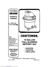 Craftsman 113.177790 Manuals