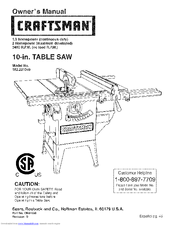 Craftsman 152.221040 Manuals