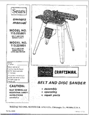 Craftsman 113.225831 Manuals