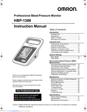 Omron HBP-1300 Manuals