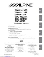 Alpine CDE-9821R Manuals