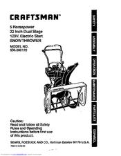 Craftsman 536.886122 Manuals