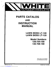 White LAWN BOSS LT-120 Manuals