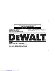 Dewalt DCG412 Manuals