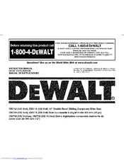 Dewalt DW718 Manuals