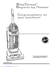 Hoover WindTunnel U5720-950 Owner's Manual (15 pages)