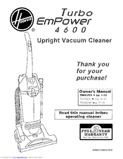Hoover Turbo EmPower 4600 U5268900 Manuals