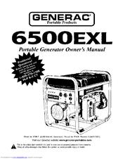 Generac 6500EXL Manuals