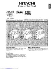 Hitachi DZ-GX5020A Manuals