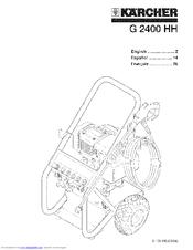 Karcher G 2400 HH Manuals