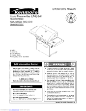 Kenmore 141.163291 Manuals