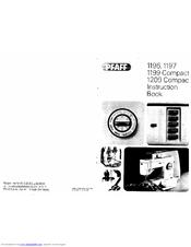 Pfaff 1209 COMPACT Manuals