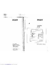 Pfaff creative 1472 Manuals
