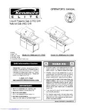 Kenmore ELITE 141.166821 Operator's Manual