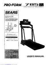 Proform 785 TL Manuals
