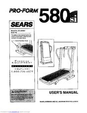 Proform 580 si Manuals