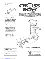 Weider CrossBow Platinum WESY78730 Manuals