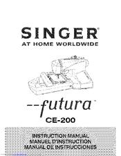 Singer FUTURA CE-200 Manuals