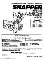 Snapper 8245 Manuals