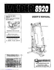 Weider 8920 Manuals