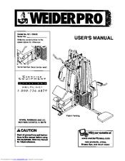 Weider PRO Manuals