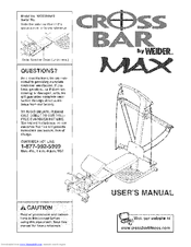 Weider CROSS BAR MAX User's Manual (24 pages)