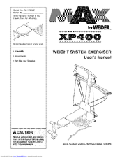Weider MAX XP400 Manuals