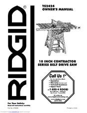Ridgid TS2424 Manuals