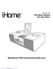 Ihome iH5 Manuals