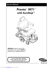 Invacare Pronto M71 Base Manuals