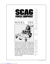 Scag Power Equipment SWZ Manuals