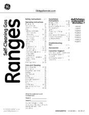 Ge Appliances PGB910 Manuals