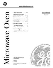 Ge JES1142SF Manuals